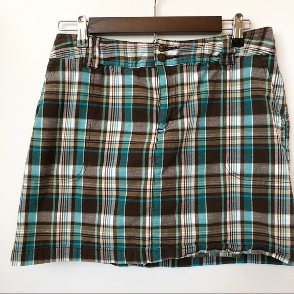 St. John's Bay Pants - St. John's Bay Brown Plaid Skort • Size 10